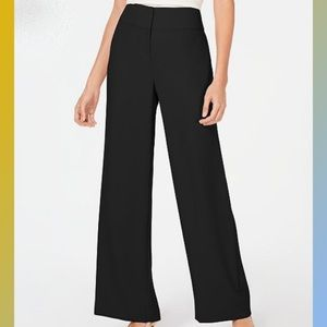 Alfani- high waist, wide leg dress pant in black